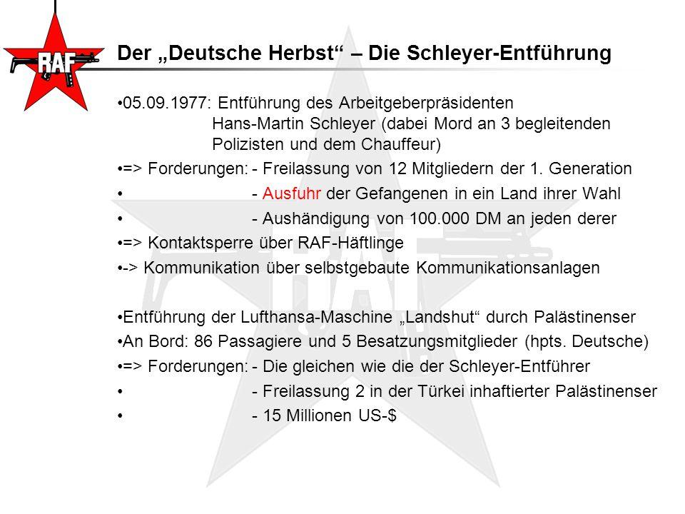 """Der """"Deutsche Herbst – Die Schleyer-Entführung"""