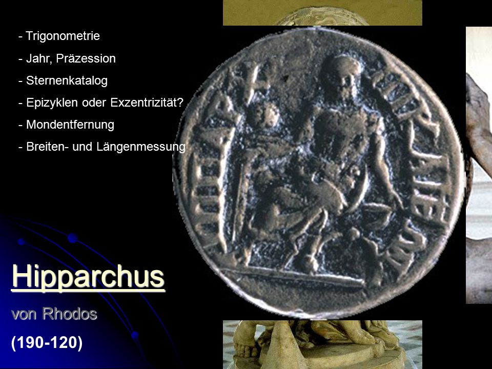 Hipparchus von Rhodos (190-120) Trigonometrie Jahr, Präzession