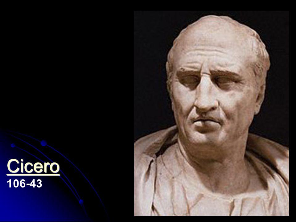 Cicero 106-43 Marcus Tullius Cicero: De natura deorum