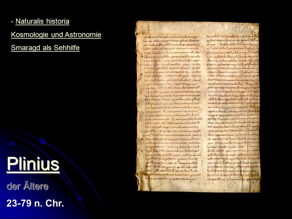 Plinius der Ältere 23-79 n. Chr. Naturalis historia