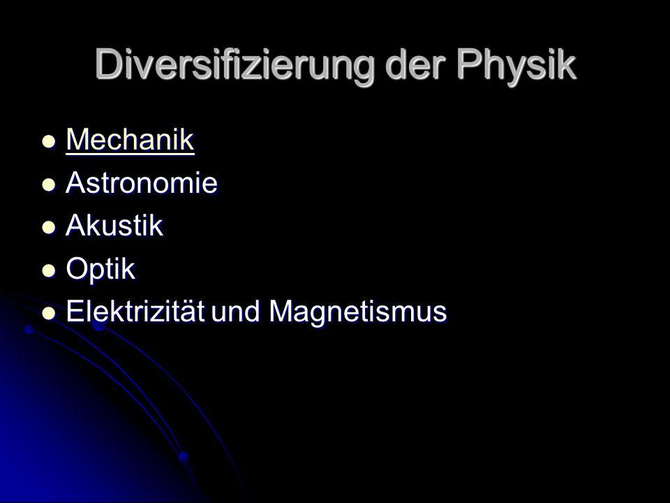 Diversifizierung der Physik
