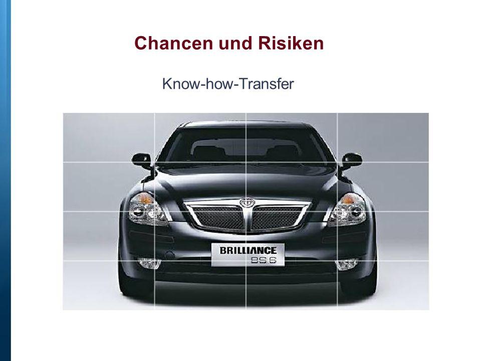 Chancen und Risiken Know-how-Transfer