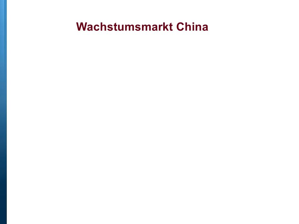 Wachstumsmarkt China