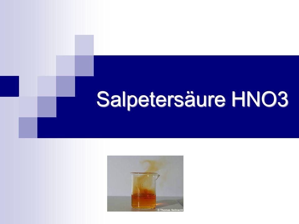 Salpetersäure HNO3