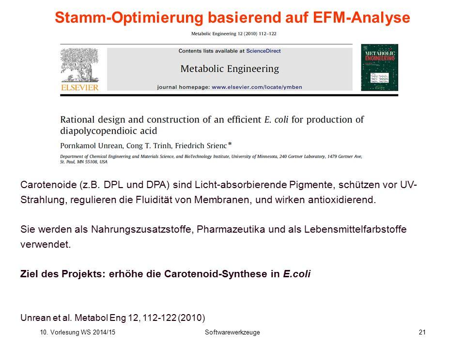 Stamm-Optimierung basierend auf EFM-Analyse