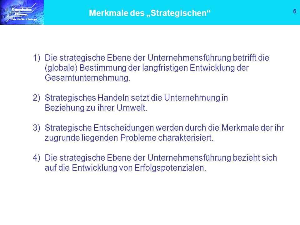 "Merkmale des ""Strategischen"