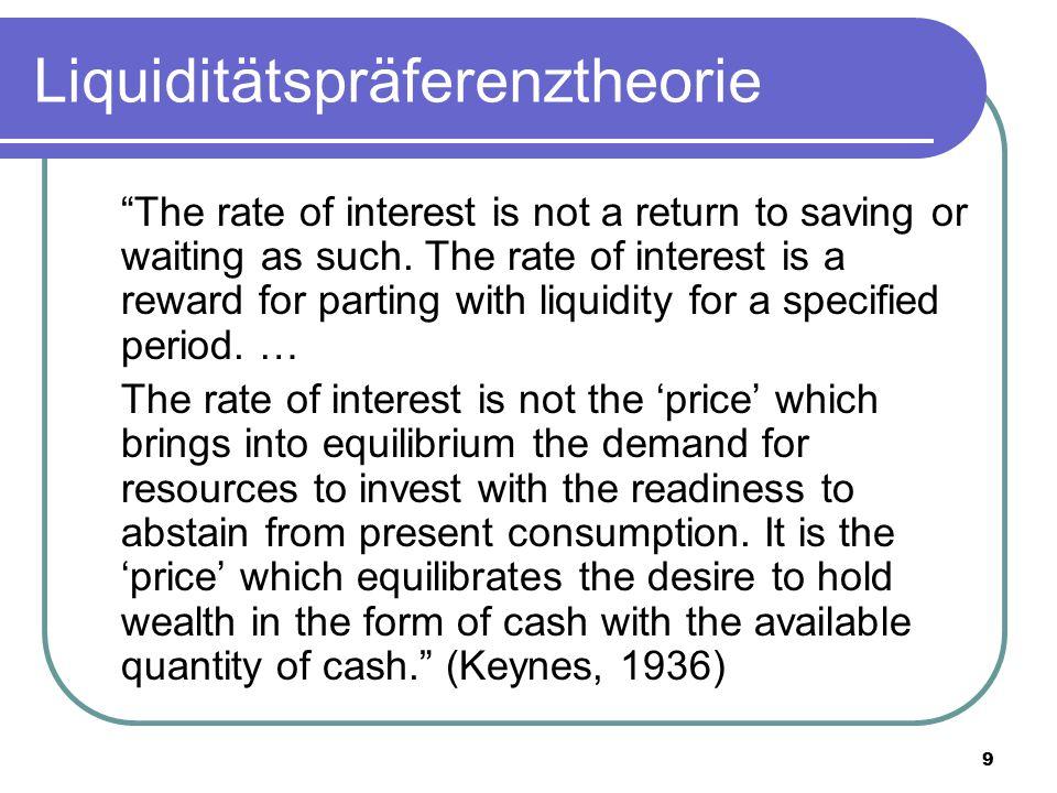 Liquiditätspräferenztheorie