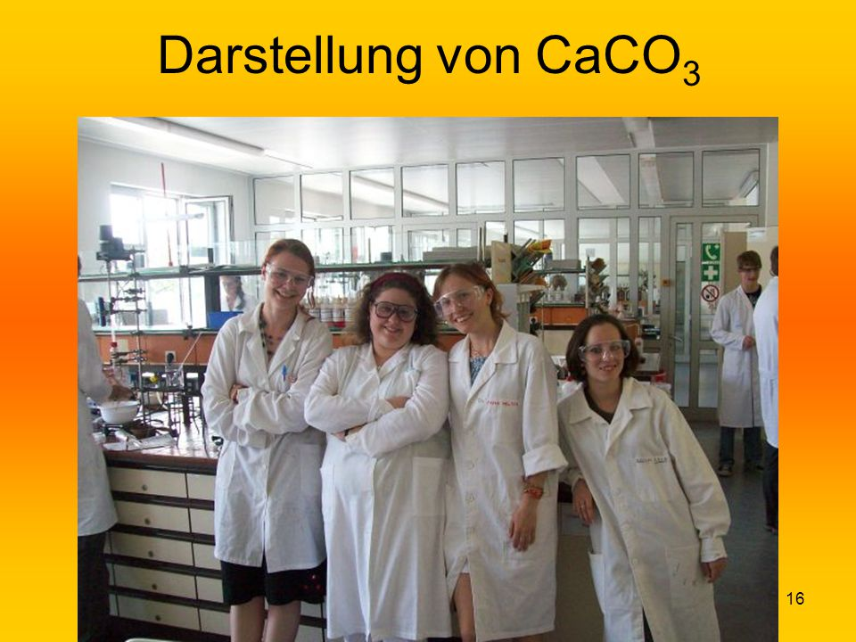 Darstellung von CaCO3