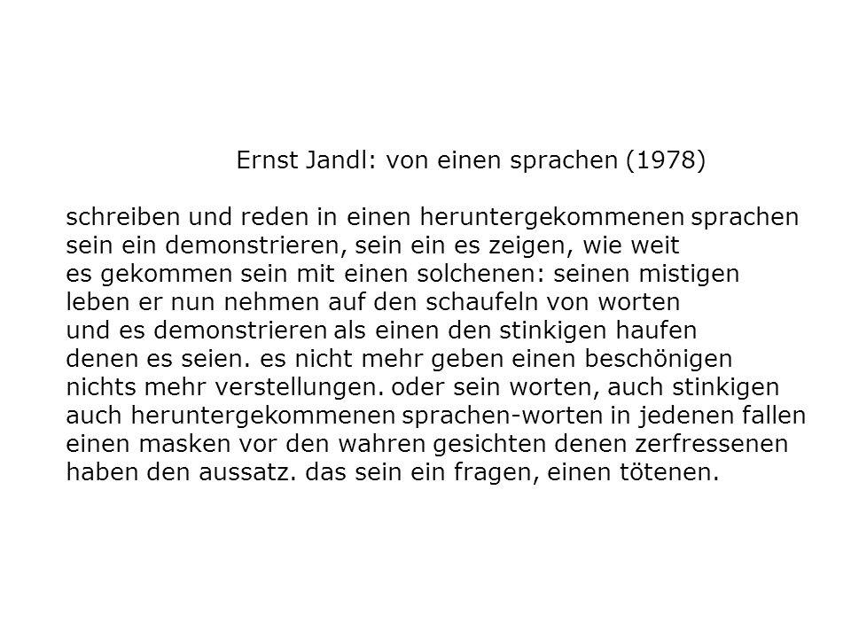 Ernst Jandl: von einen sprachen (1978)