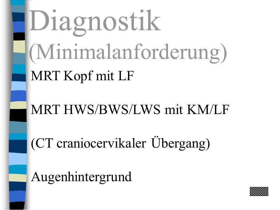 Diagnostik (Minimalanforderung) MRT Kopf mit LF