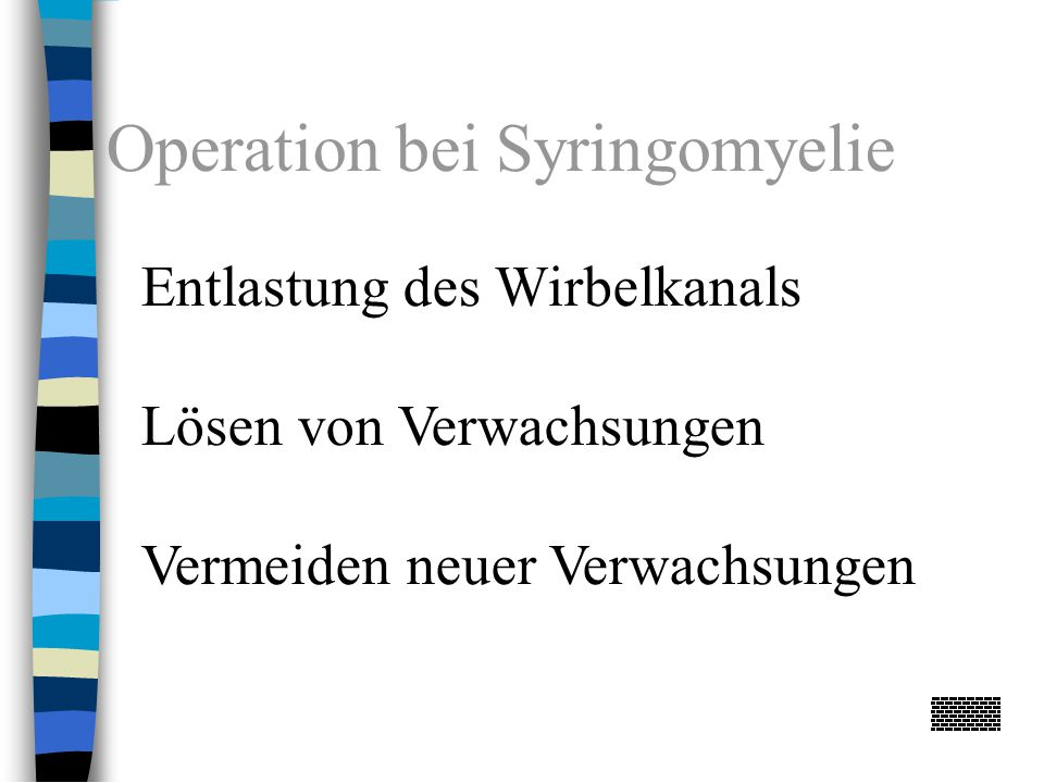 Operation bei Syringomyelie