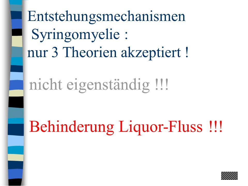 Behinderung Liquor-Fluss !!!