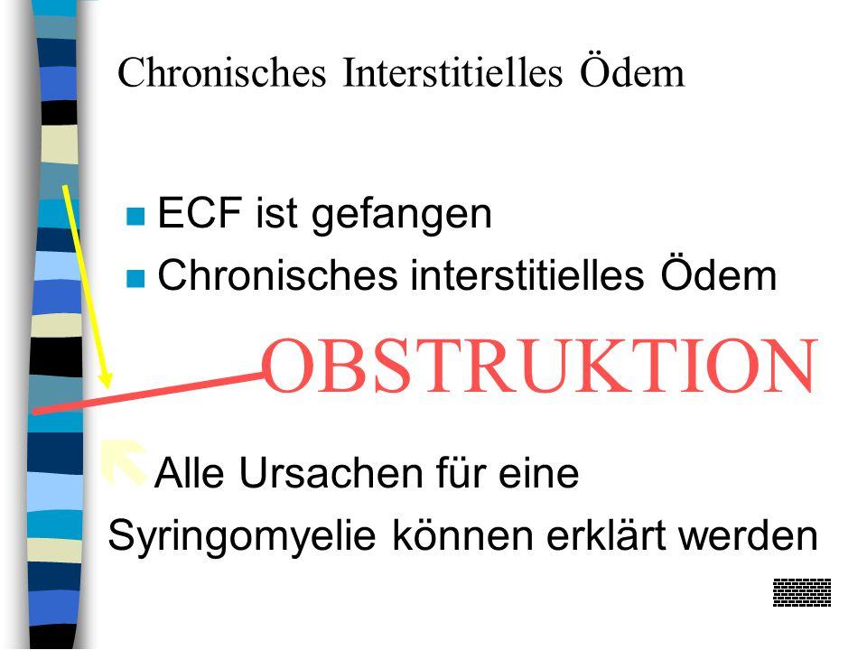 OBSTRUKTION Chronisches Interstitielles Ödem ECF ist gefangen