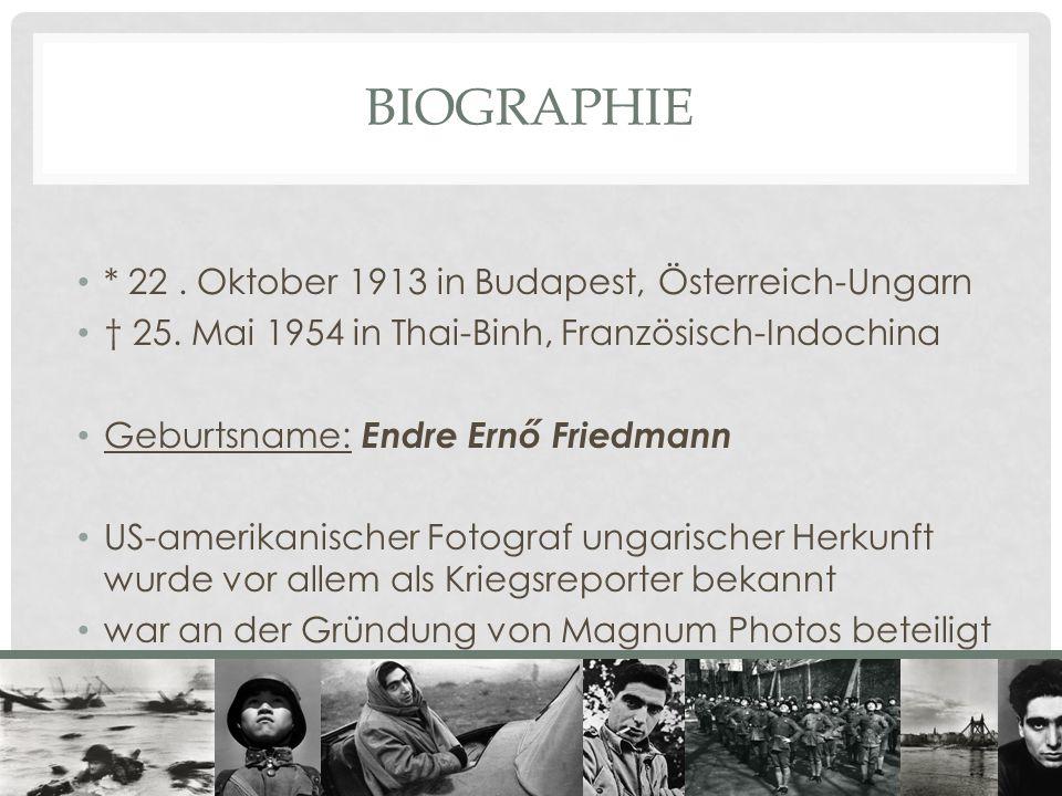 BIOGRAPHIE * 22 . Oktober 1913 in Budapest, Österreich-Ungarn
