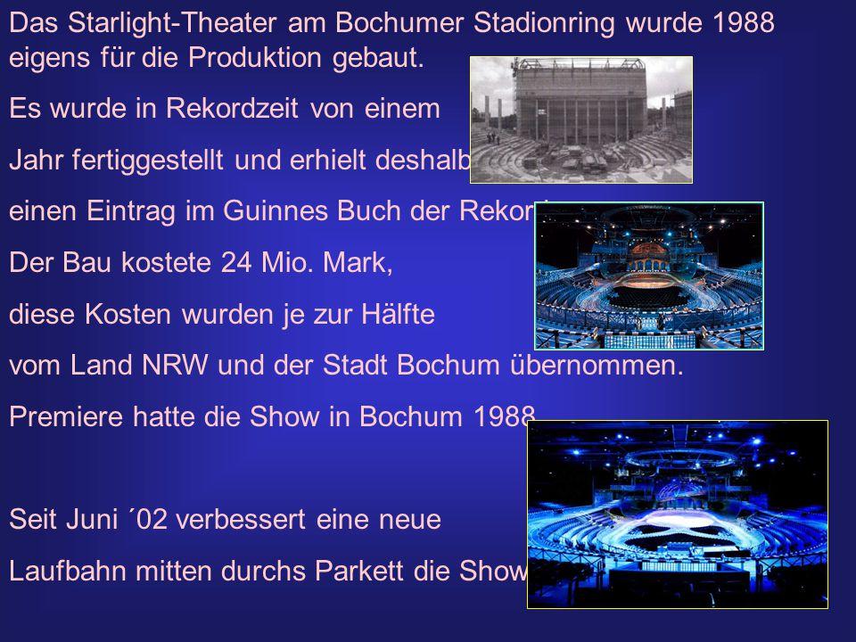 Das Starlight-Theater am Bochumer Stadionring wurde 1988 eigens für die Produktion gebaut.