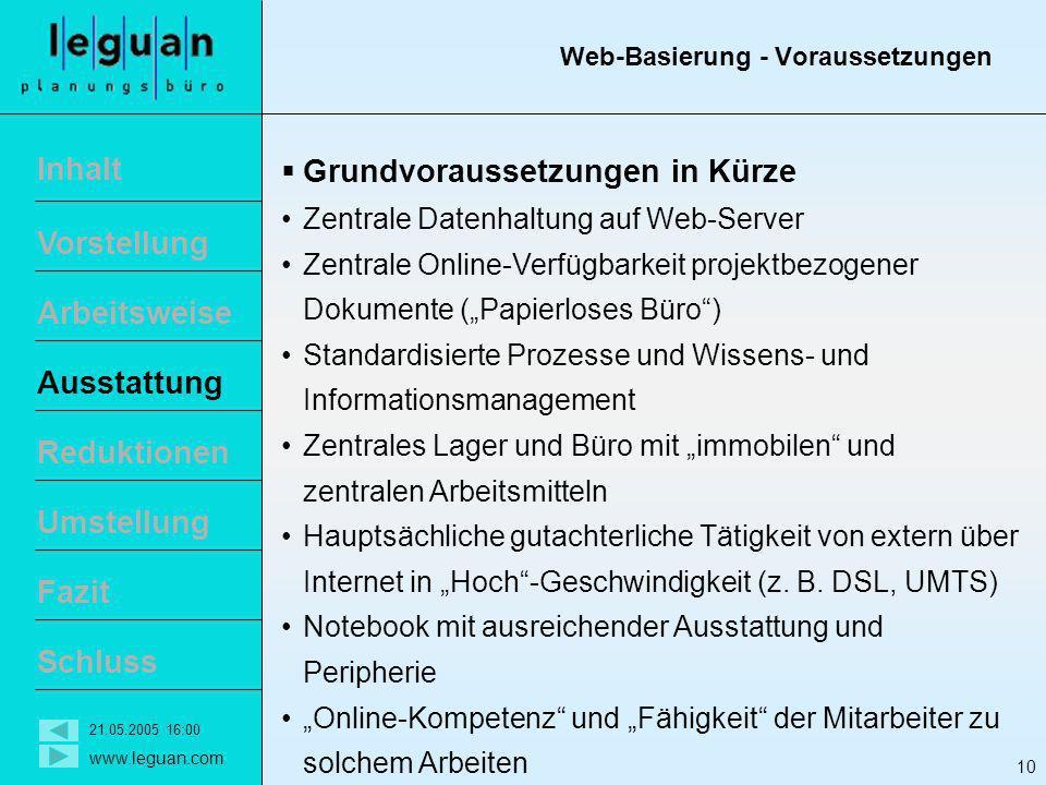 Web-Basierung - Voraussetzungen