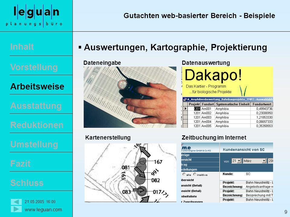 Gutachten web-basierter Bereich - Beispiele