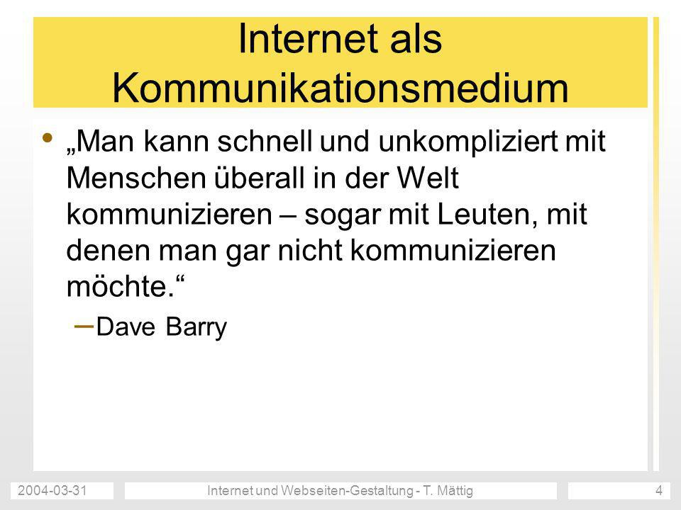 Internet als Kommunikationsmedium