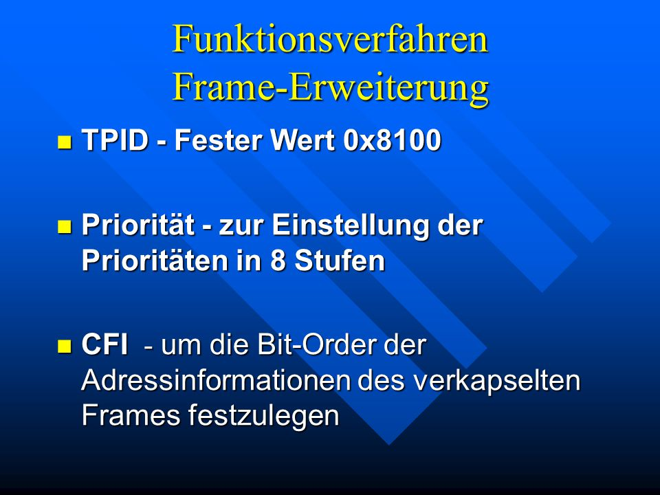 Funktionsverfahren Frame-Erweiterung