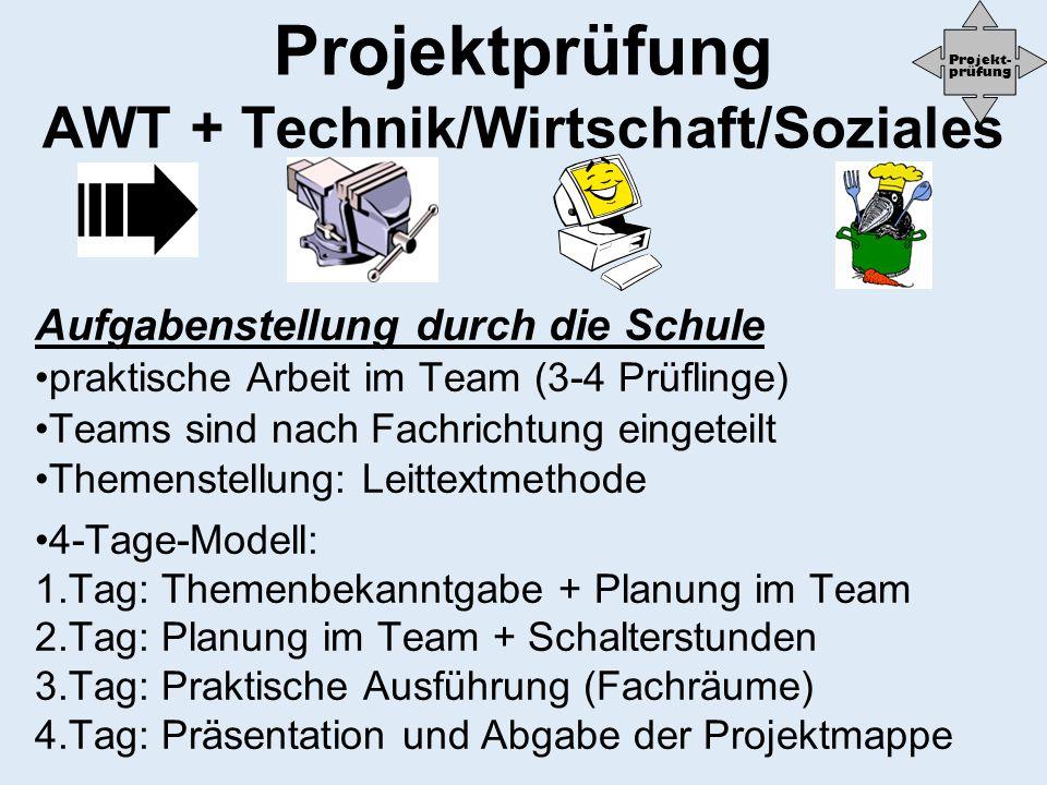 Projektprüfung AWT + Technik/Wirtschaft/Soziales