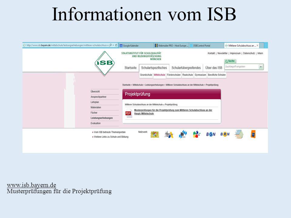 Informationen vom ISB 11 www.isb.bayern.de