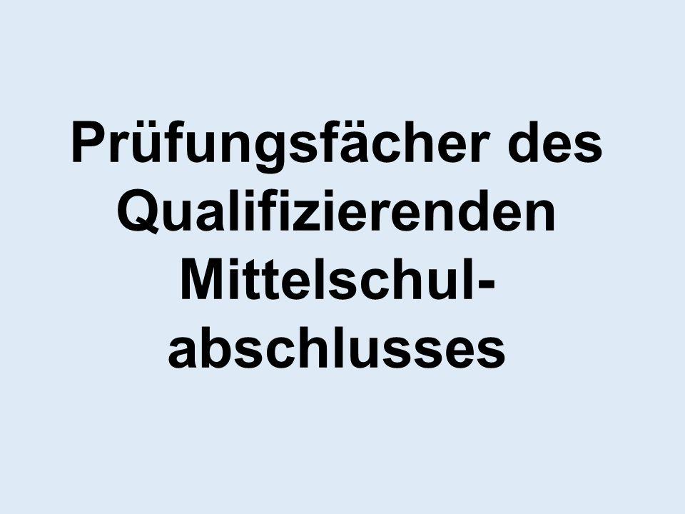 Prüfungsfächer des Qualifizierenden Mittelschul-abschlusses
