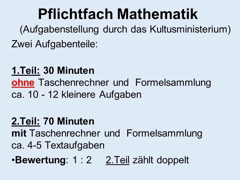 Pflichtfach Mathematik