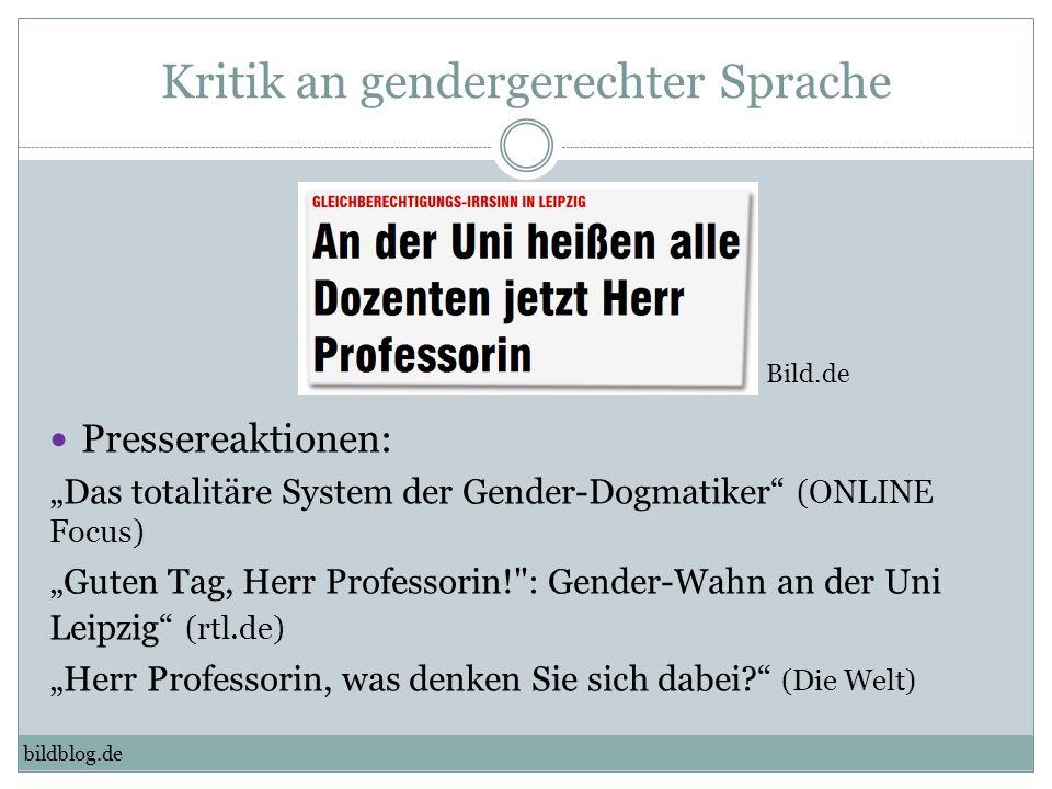Kritik an gendergerechter Sprache