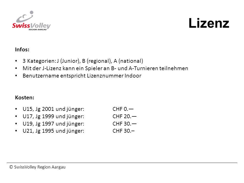 Lizenz Infos: 3 Kategorien: J (Junior), B (regional), A (national)