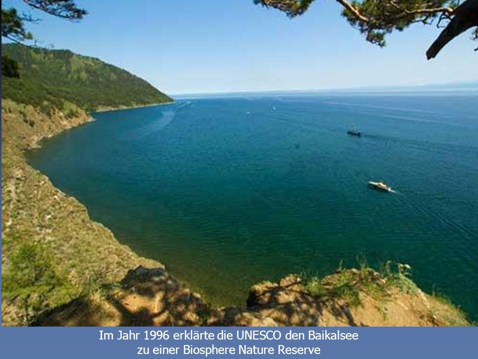 Im Jahr 1996 erklärte die UNESCO den Baikalsee