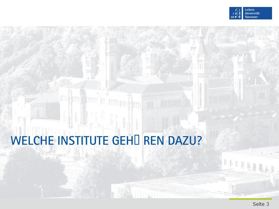 Welche Institute gehören dazu