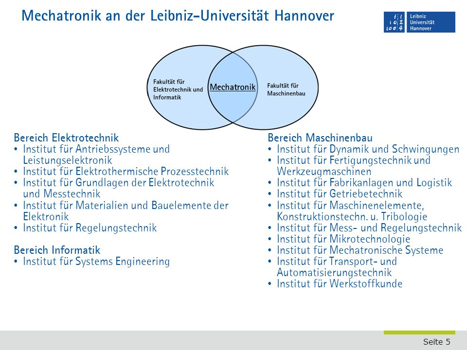 Mechatronik an der Leibniz-Universität Hannover