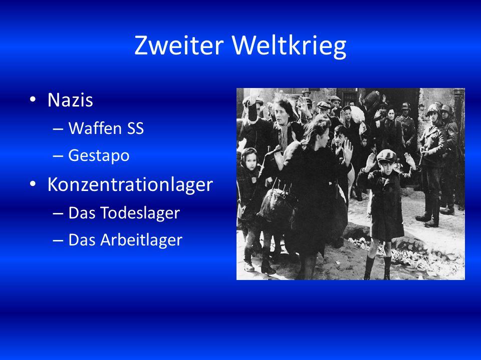 Zweiter Weltkrieg Nazis Konzentrationlager Waffen SS Gestapo