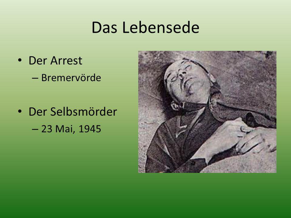 Das Lebensede Der Arrest Bremervörde Der Selbsmörder 23 Mai, 1945
