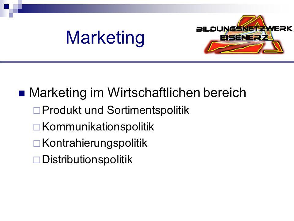 Marketing Marketing im Wirtschaftlichen bereich