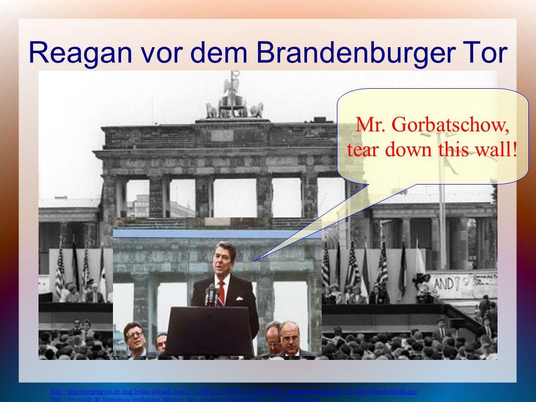 Reagan vor dem Brandenburger Tor