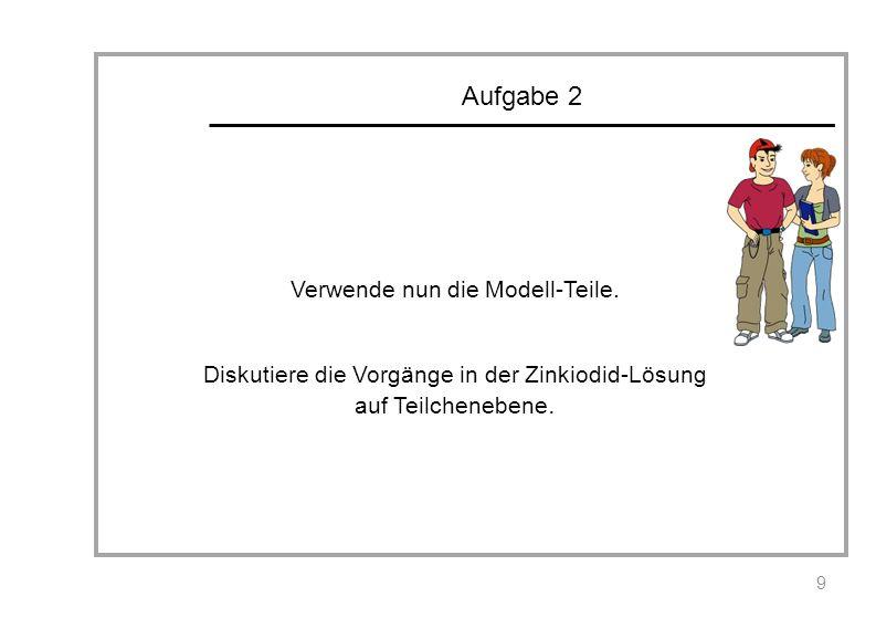 Aufgabe 2 Verwende nun die Modell-Teile.