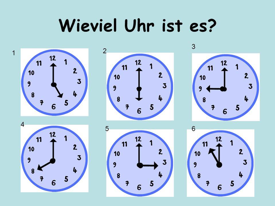 Wieviel Uhr ist es 3 2 1 4 5 6