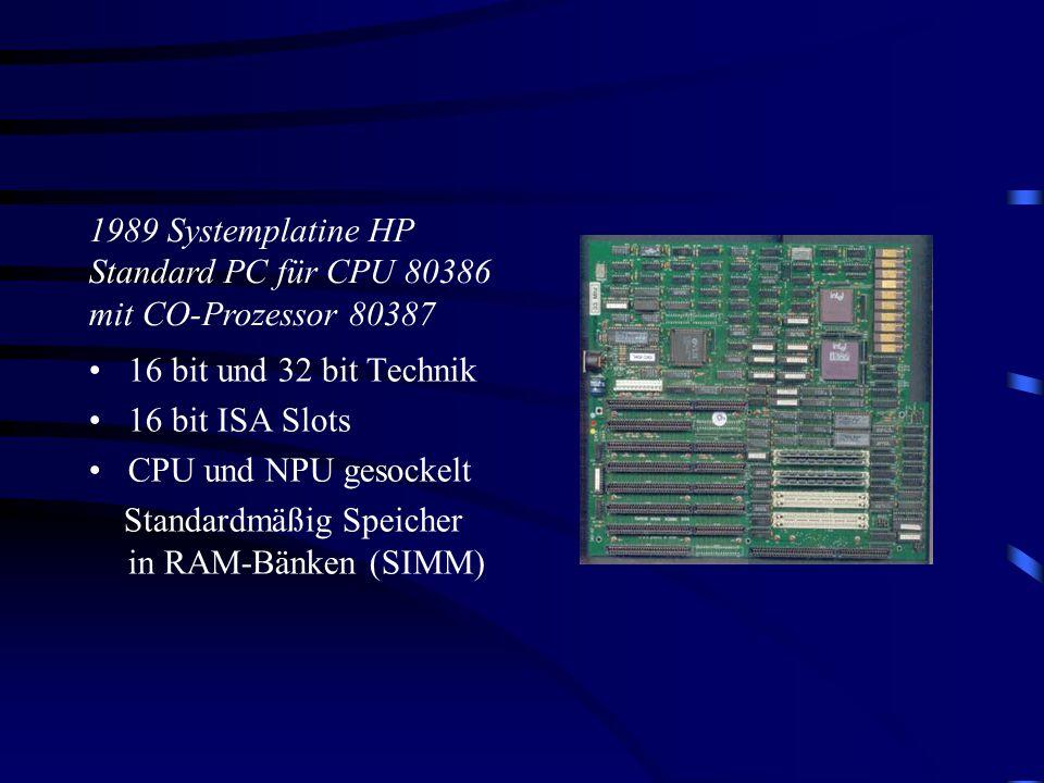 1989 Systemplatine HP Standard PC für CPU 80386 mit CO-Prozessor 80387