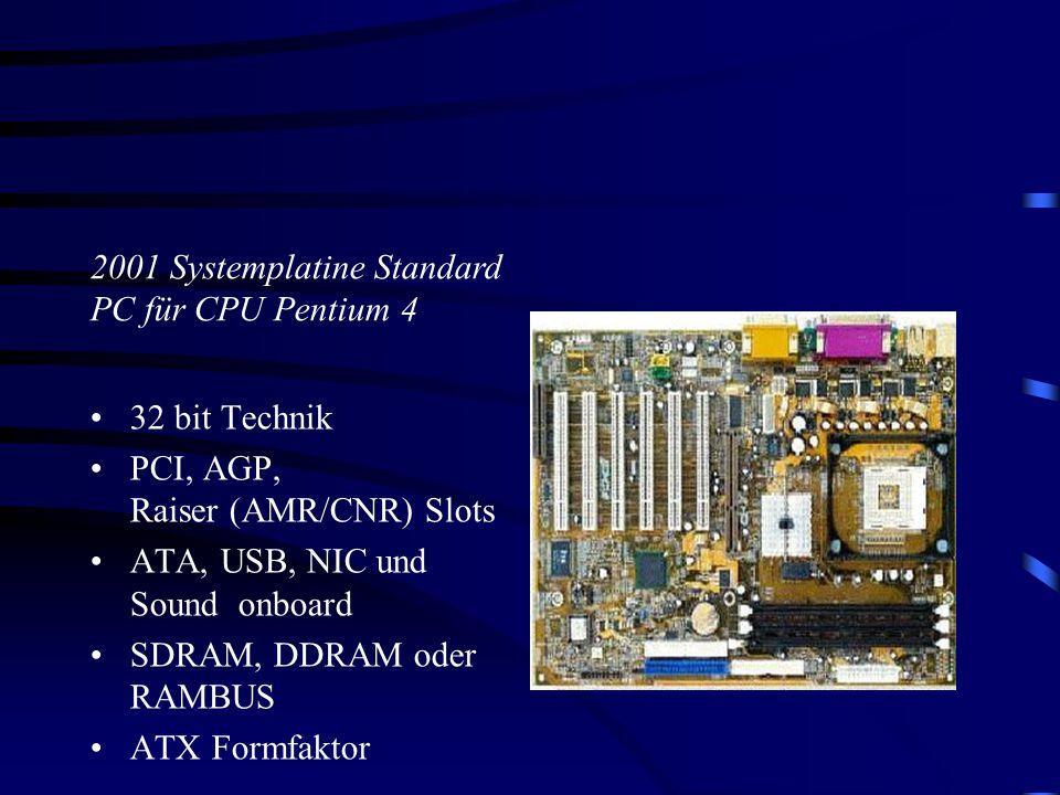 2001 Systemplatine Standard PC für CPU Pentium 4