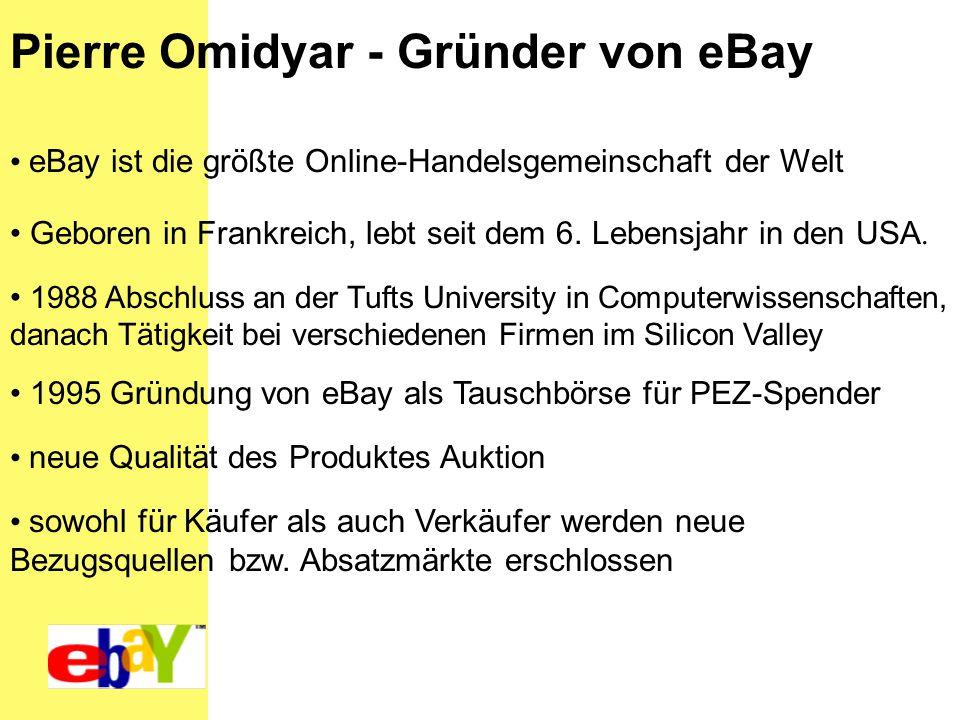 Pierre Omidyar - Gründer von eBay