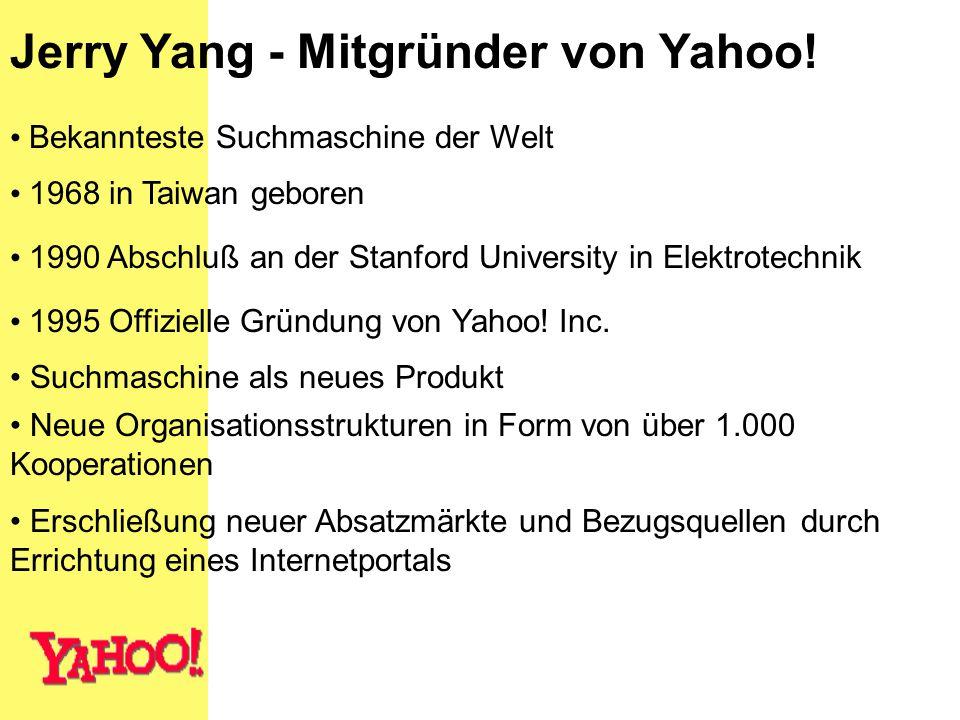 Jerry Yang - Mitgründer von Yahoo!