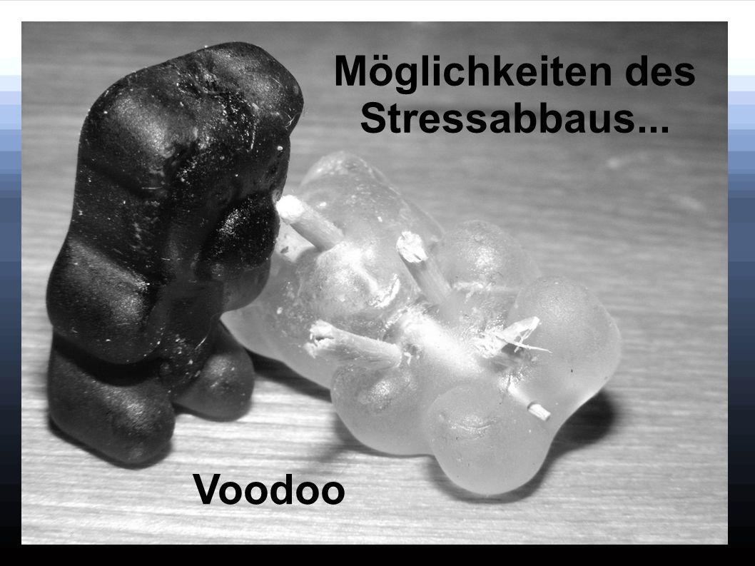 Möglichkeiten des Stressabbaus...