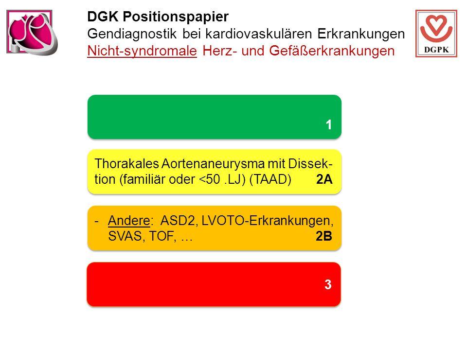 DGK Positionspapier Gendiagnostik bei kardiovaskulären Erkrankungen