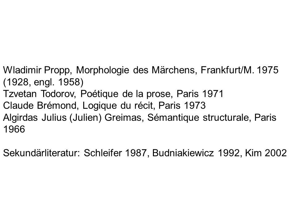 Wladimir Propp, Morphologie des Märchens, Frankfurt/M. 1975 (1928, engl. 1958)