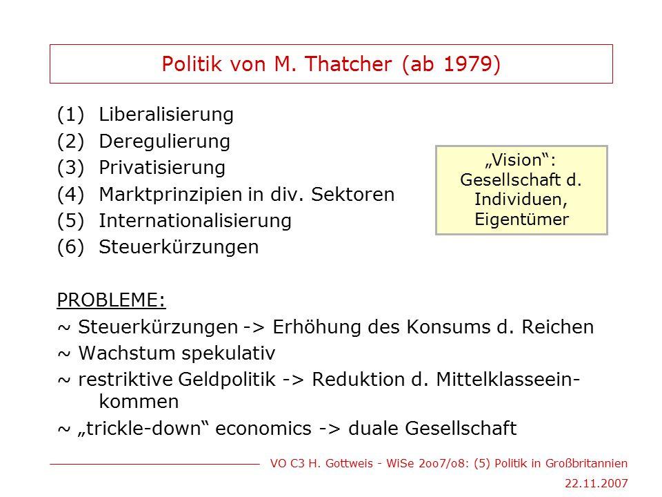 Politik von M. Thatcher (ab 1979)