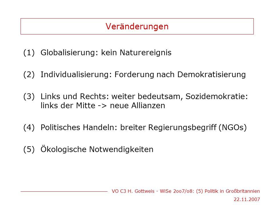 Veränderungen Globalisierung: kein Naturereignis