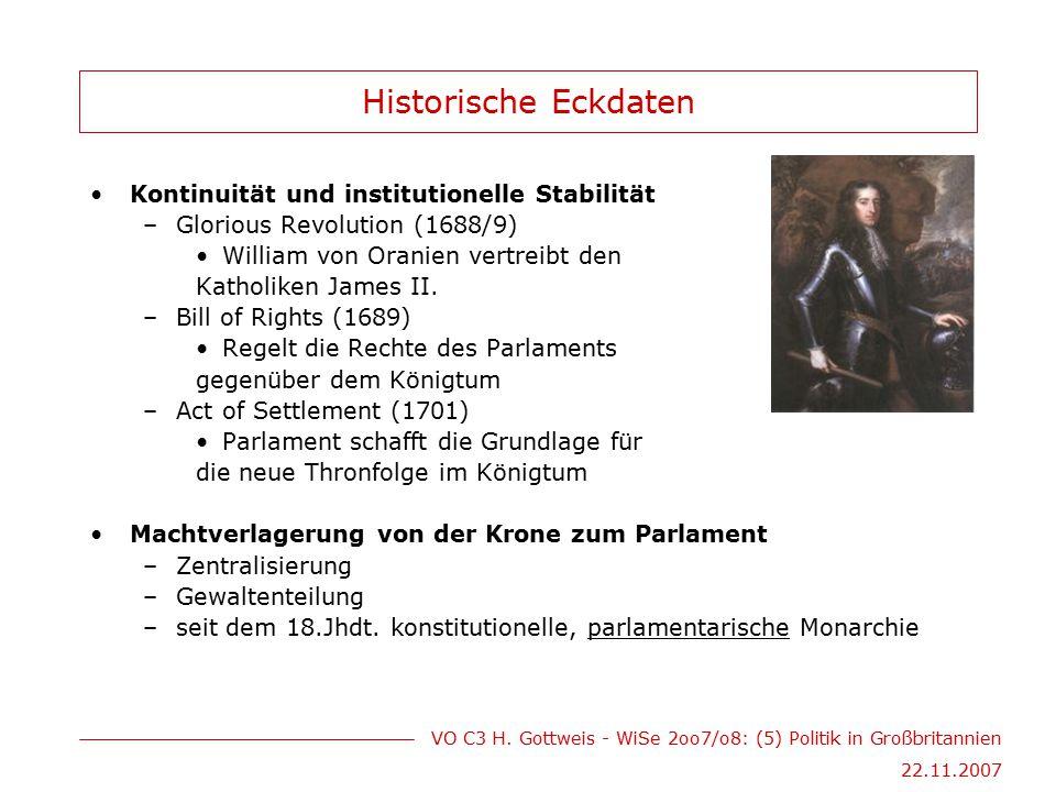 Historische Eckdaten Kontinuität und institutionelle Stabilität
