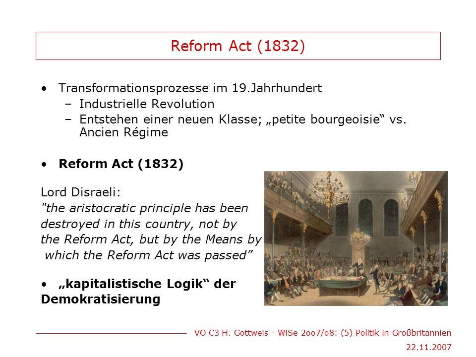 Reform Act (1832) Transformationsprozesse im 19.Jahrhundert