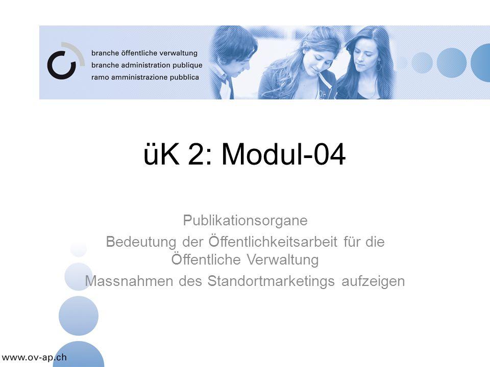 üK 2: Modul-04 Publikationsorgane